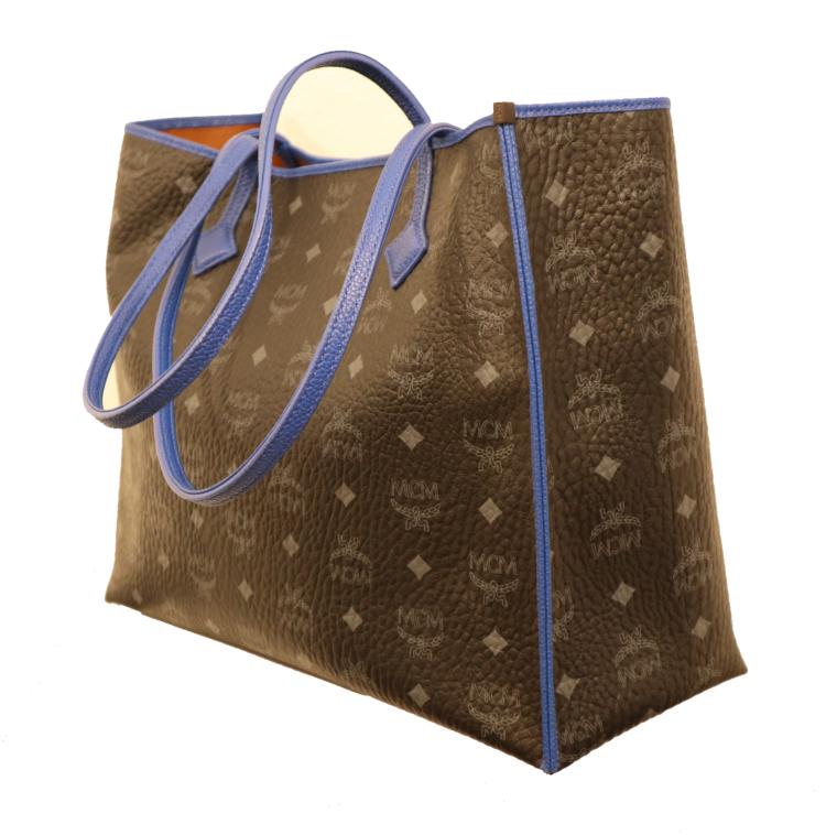 MCM Tasche Kira visetos Shopper schwarz blau-15332