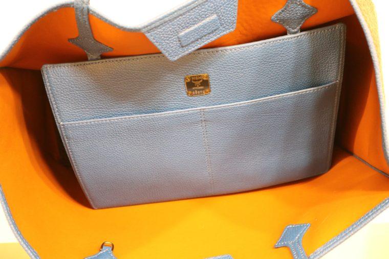 MCM Tasche Kira visetos Shopper schwarz blau-15335