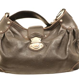 Louis Vuitton Tasche Mahina Leder schwarz