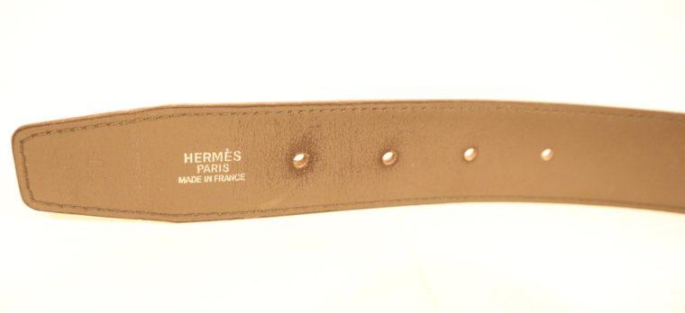 Hermes Gürtel Wendegürtel grau dunkelgrün-15251