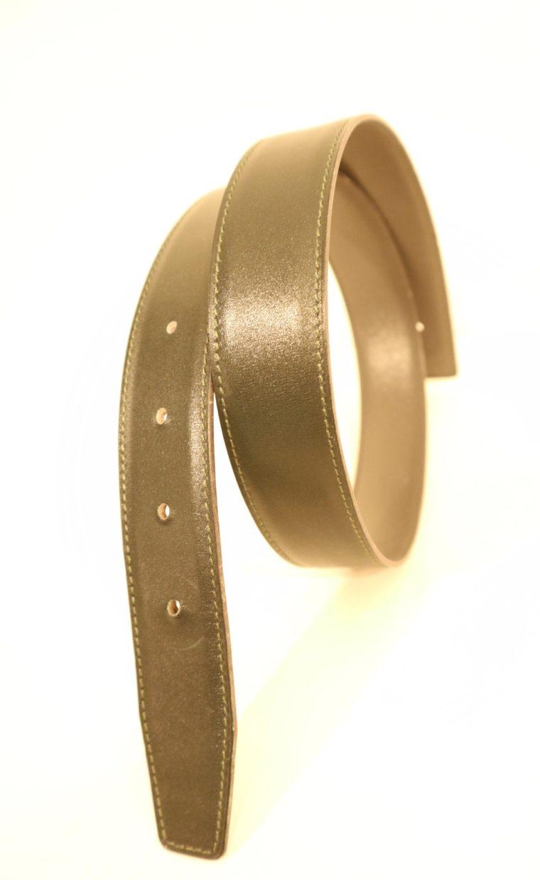 Hermes Gürtel Wendegürtel grau dunkelgrün-15254