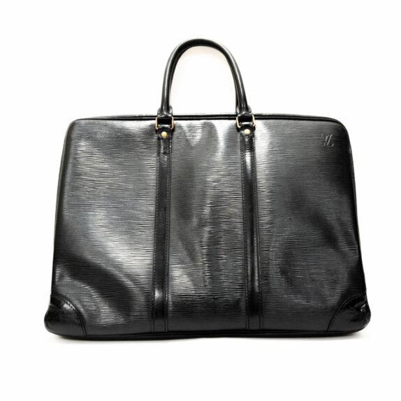 Louis Vuitton Tasche Porte-Documents Epi Leder schwarz