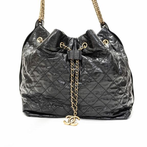 Chanel Schnürtasche schwarz
